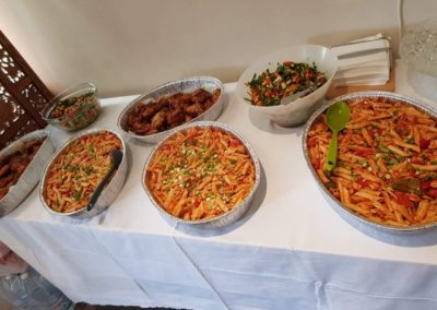 Food table at the luncheon
