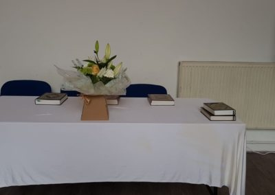 Judges table at the new converts ijtema