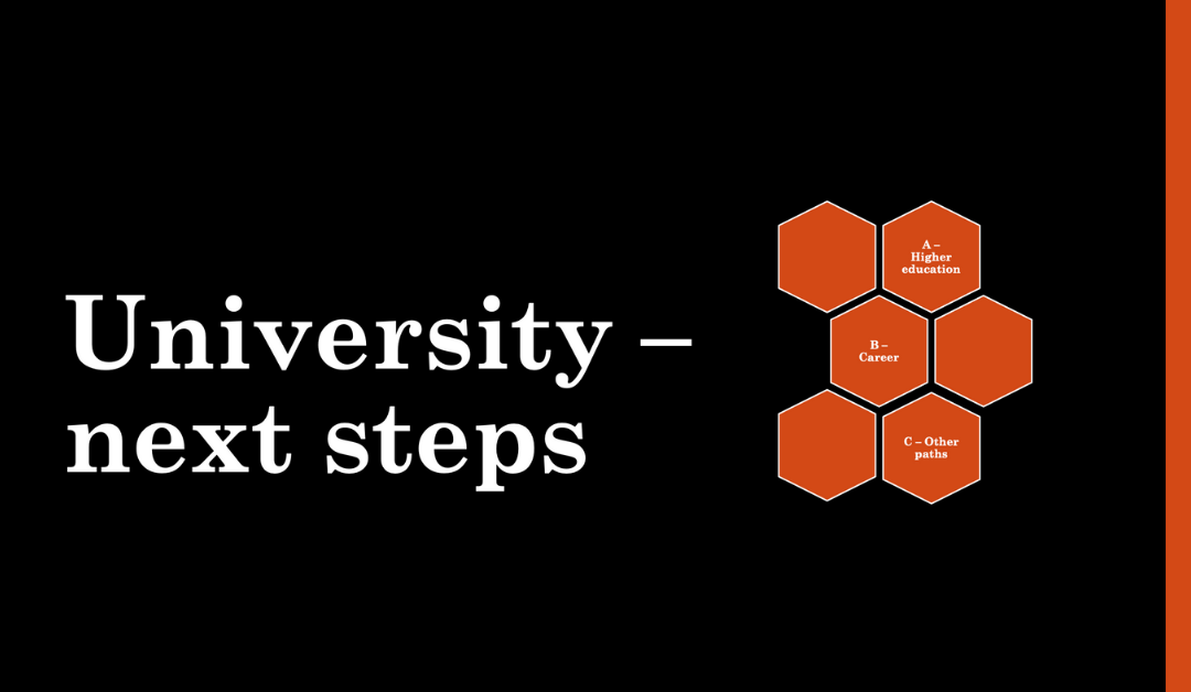 University – Next Steps